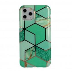 Гръб - кейс с мраморен десен тип мозайка за iPhone 12 Pro (Дизайн 1)