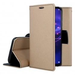 Fancy калъф - тефтерче с магнит за iPhone 12 Pro (ЗЛАТИСТ)
