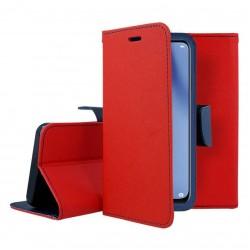 Fancy калъф - тефтерче с магнит за iPhone 12 Pro (ЧЕРВЕН)