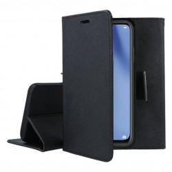 Fancy калъф - тефтерче с магнит за iPhone 12 Pro (ЧЕРЕН)